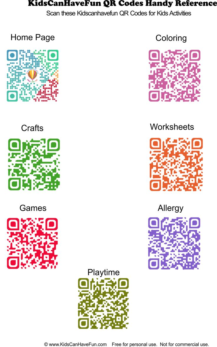 Kids Activities QR Codes http://www.kidscanhavefun.com/qr-codes-for-kids.htm #qrcode #kidsactivities #thingstodo