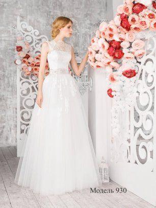 Свадебное платье с кружевной отделкой. Olga Sposa
