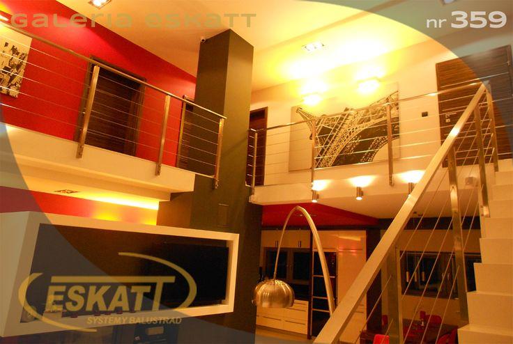 Stainless steel balustrade, with links #balustrade #eskatt #construction #stairs