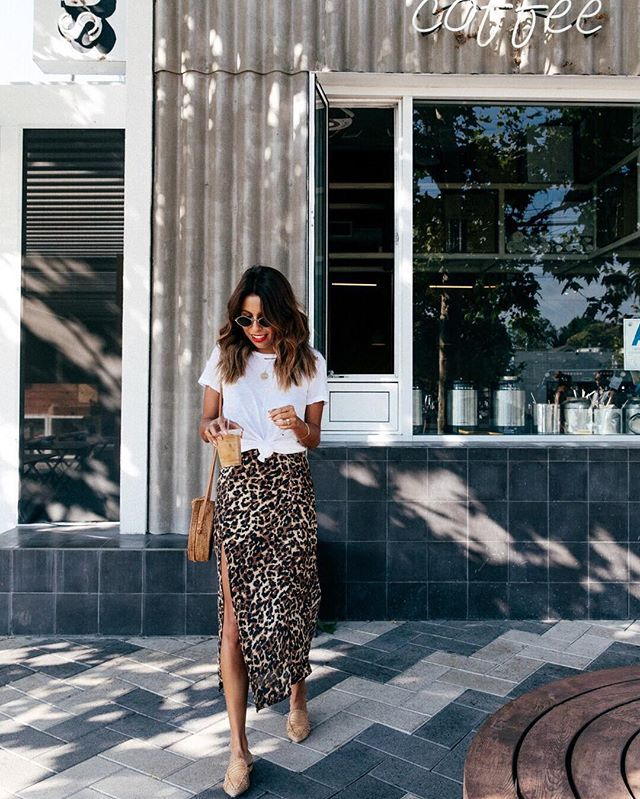 Outfit Idea: Slip Dress + White Tee