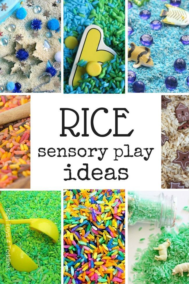 Best Toys 4 Toddlers - 33 ideas for sensory play based on rice to help engage all 5 senses of your child.