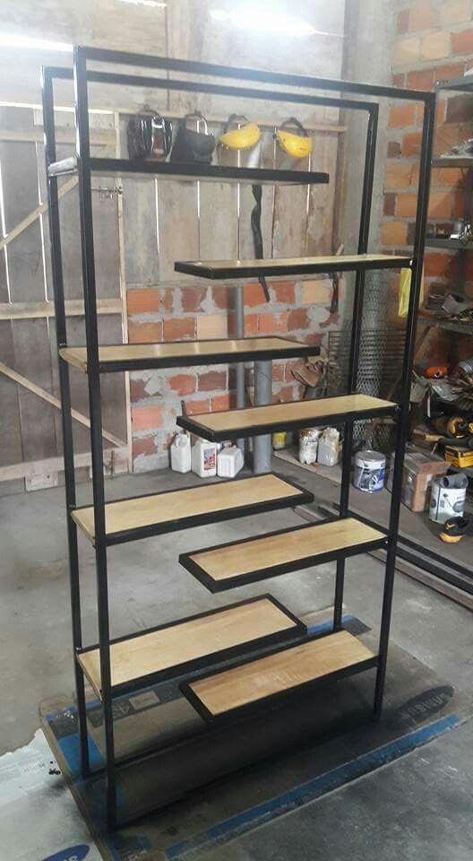 M s de 25 ideas incre bles sobre estanter as industriales for Zapateras de metal