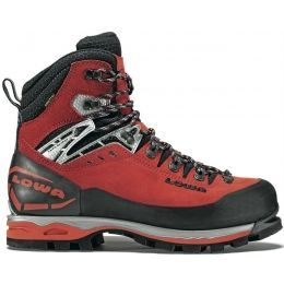 Lowa Mountain Expert GTX EVO Mountaineering Boot - Men's-Red/Black-Medium-10 US
