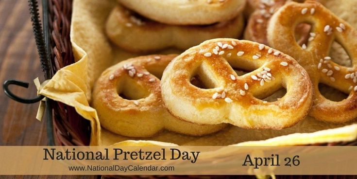 """National Pretzel Day began in 2003 when Pennsylvania Governor Ed Rendell declared April 26 """"National Pretzel Day"""" to acknowledge the importance of the pretzel to the state's history and economy."""