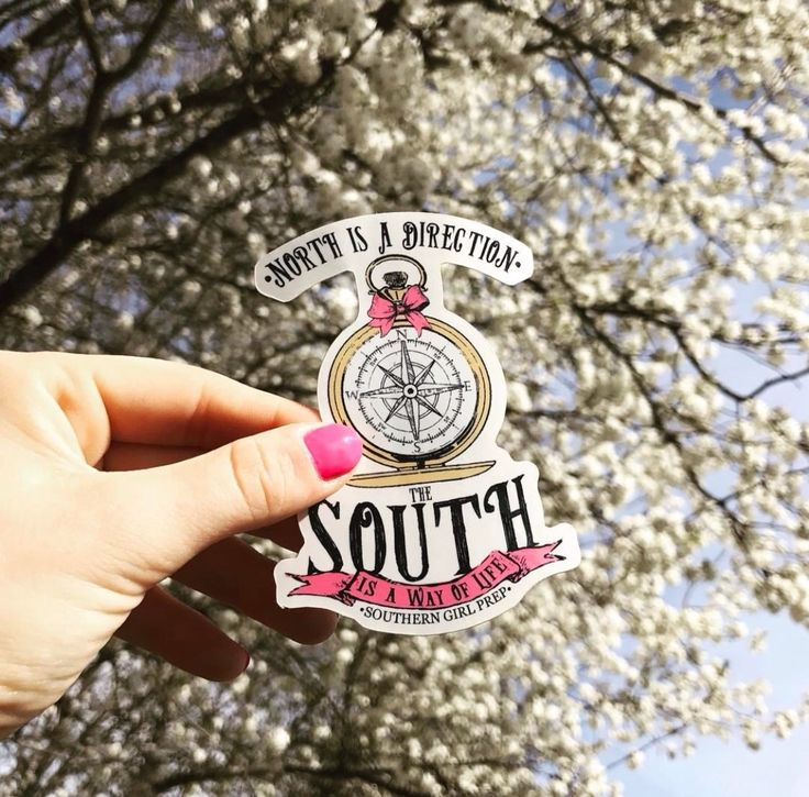 If you love the South then this is the sticker for you! Just ask @aye.jesse | Southern Girl Prep preppy stickers | compass