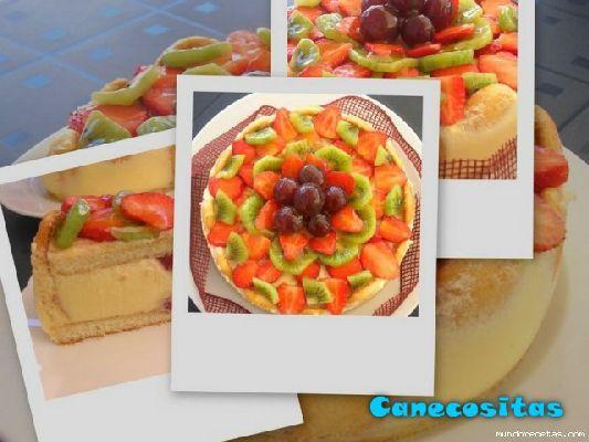 Tarta charlota de frutas - Recetariocanecositas.com