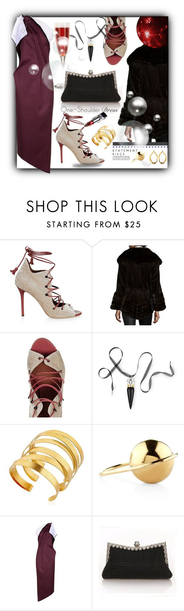 """""""Dark Glamour"""" by sjkfavorites ❤ liked on Polyvore featuring Malone Souliers, Christian Louboutin, Hervé Van Der Straeten, LeiVanKash, Maticevski and Tom Ford"""