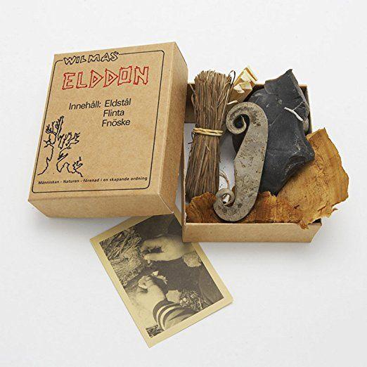 Wilmas Elddon Feuer Set aus Natur-Materialien