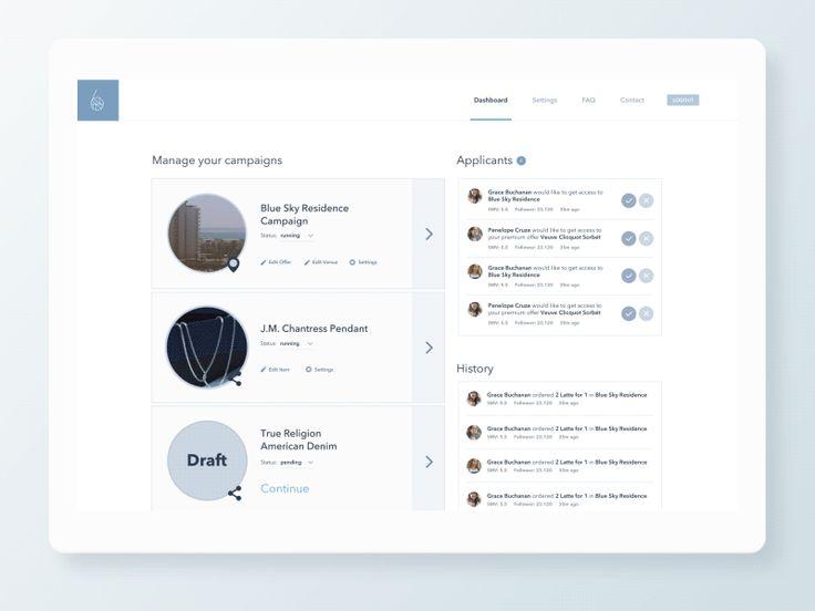 Dashboard interface transition