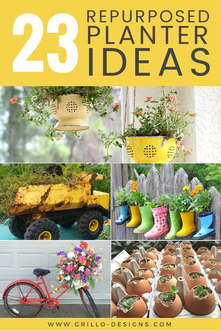 repurposed planter container ideas