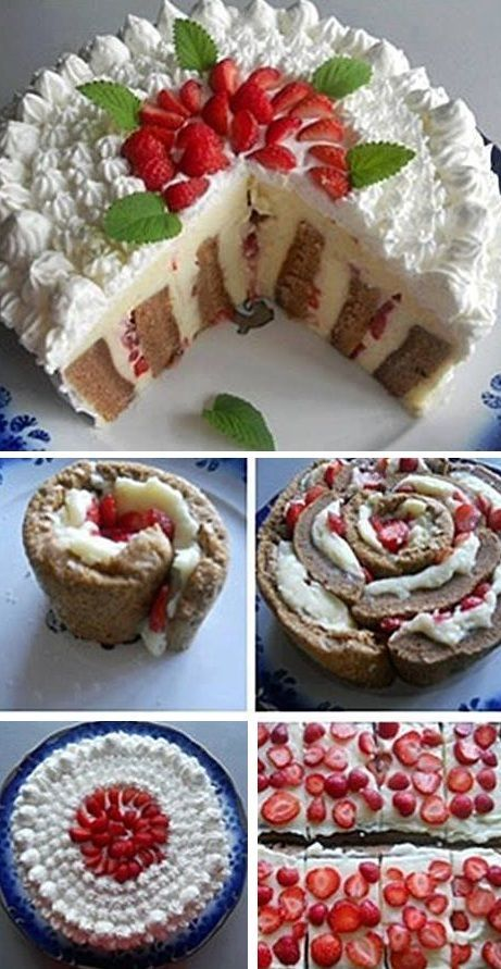 Delicious Striped Cake