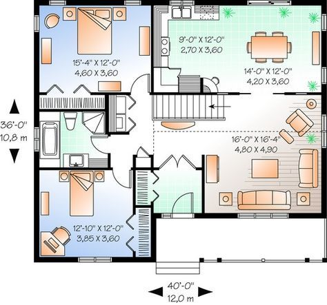 Excellent for our needs. Add fireplace. Floor plan