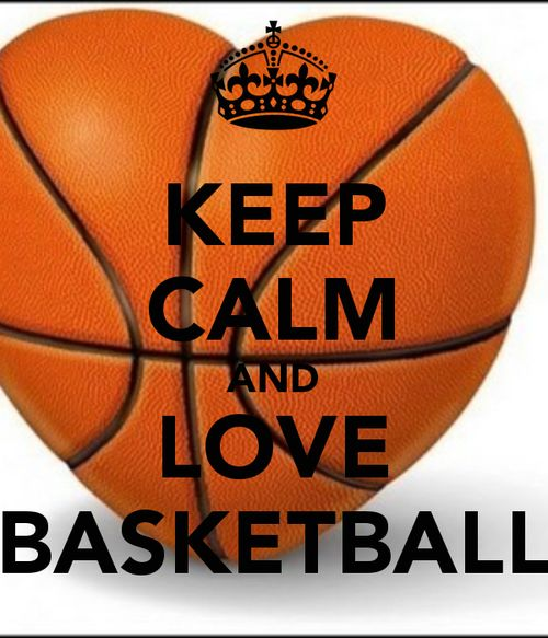 Motivational Quotes For Sports Teams: Keep Calm And Love Basketball