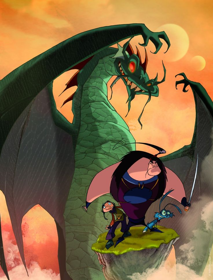Картинки из мультика охотники на драконов