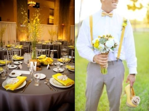 yellow and gray wedding decorations 67 best images about grey and yellow wedding ideas for 1506
