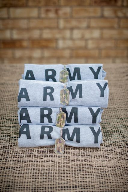 Army shirts and dog tags #army #birthday #partyfavors #boy #party #favors