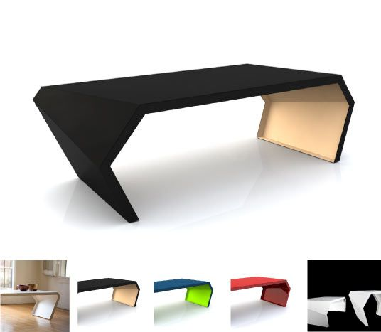 arktura pac coffee table steel automotive paint