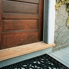 How to replace the rotting threshold on the front door...