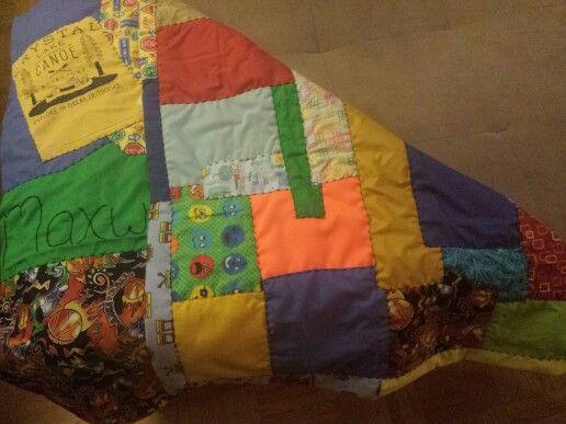 Hand-stitched Baby Quilt