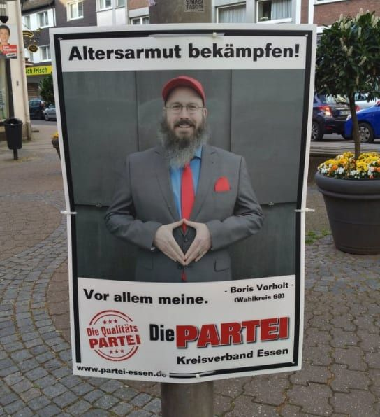 21 Prove that THE PARTY has the funniest election posters in Germany … the world