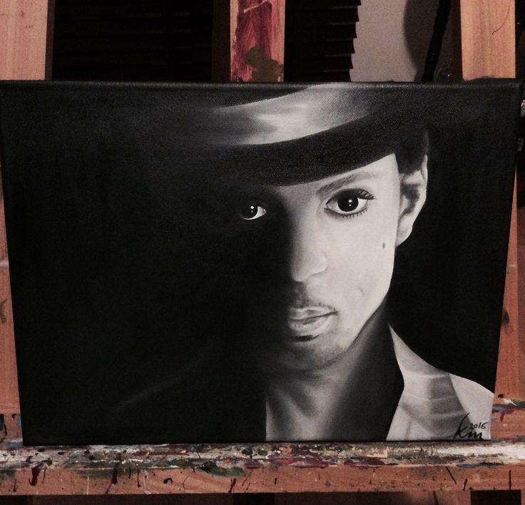 Oil painting of Prince, 30 x 40cm, 2016 Mirjam Kämmerer
