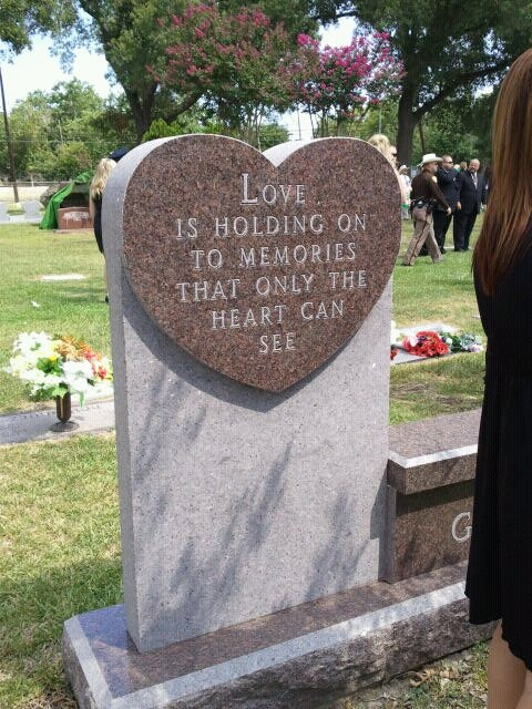 I found this memorial at a funeral I was attending for a fallen officer.  I took a picture - the words say it all.