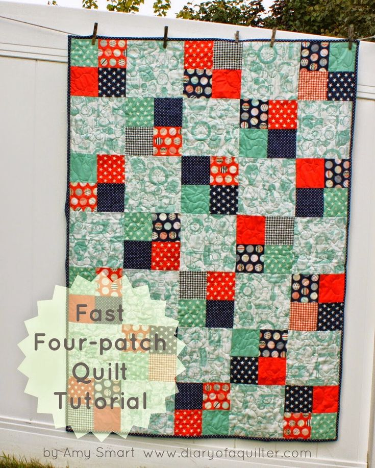 Southern Fabric: Easy Trendsetter Quilt (white for the big blocks, charm pack for the 4 blocks?)