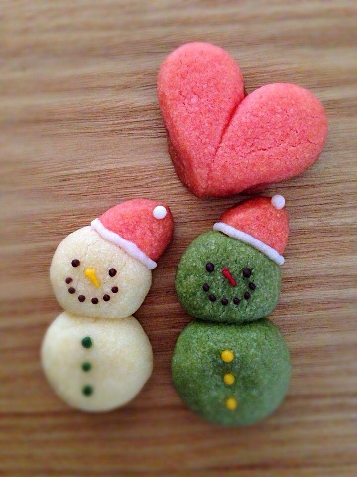 Snowman snowball cookie