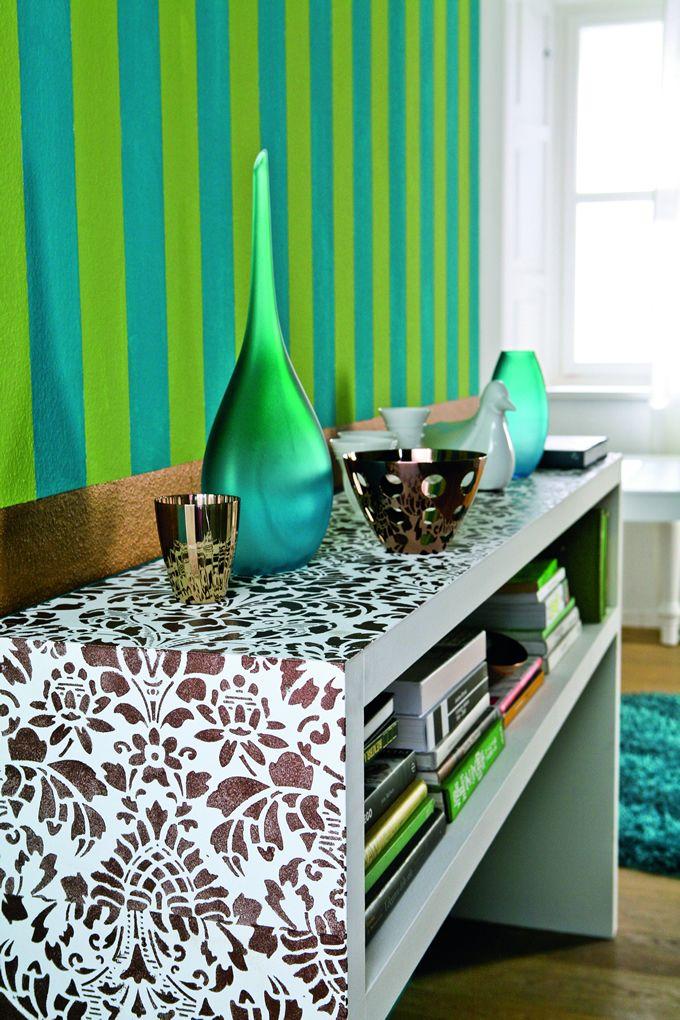colores verde rayas papel tapiz acogedor bronce tapices otro elementos turquesa