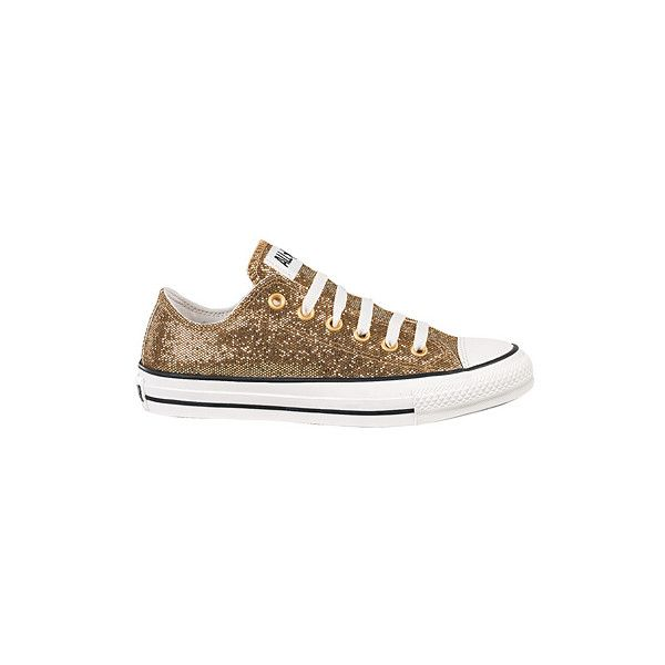 Journeys Shoes: Converse All Star Lo Glitter - Gold | Converse ...