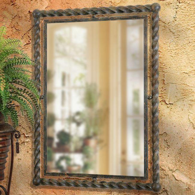 BellaSoleil.com - Campagna Iron Twist Mediterranean Mirror, $316.80 (http://www.bellasoleil.com/campagna-iron-twist-mediterranean-mirror/)