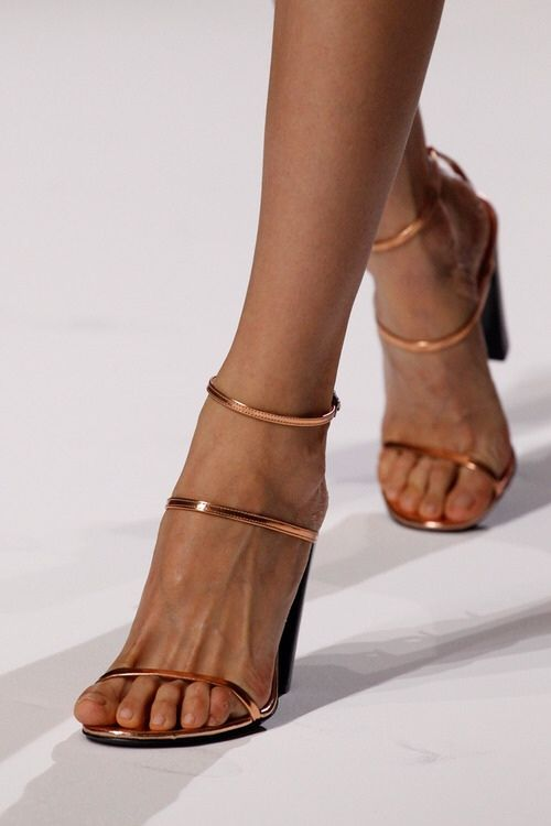 Imagine how lovely these tiny copper straps would be as your wedding shoes or rehearsal dinner shoes!