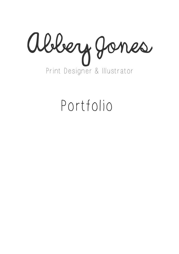 Abbey Jones - Portfolio