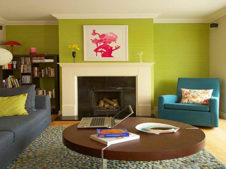 lime green and blue living room | My Web Value