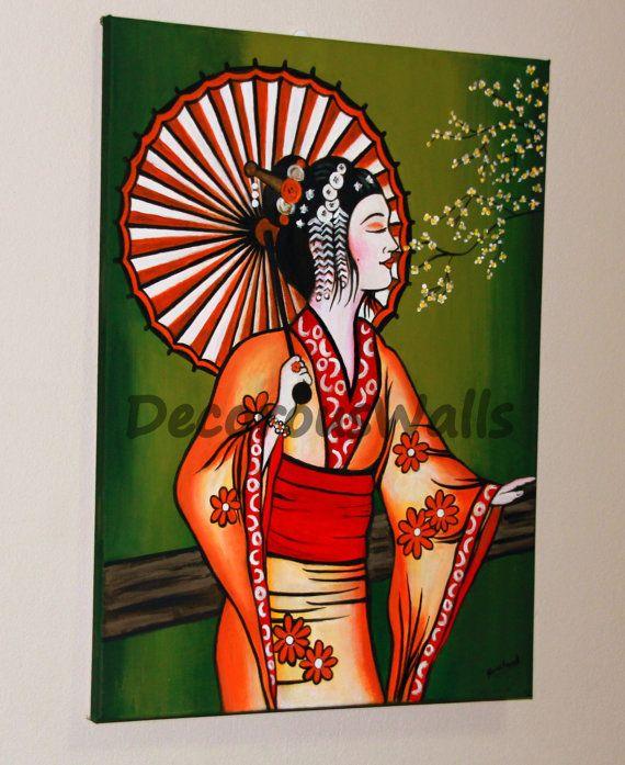 Geisha by DecorousWalls on Etsy