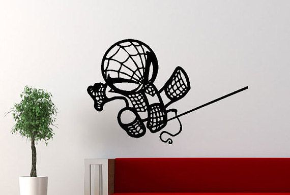 The Avengers Baby Spiderman wall decals Avengers by AbruptDesign