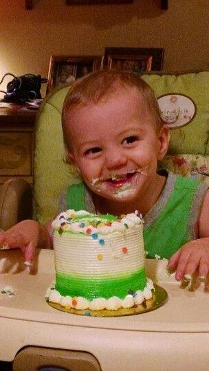 Babies love cake!