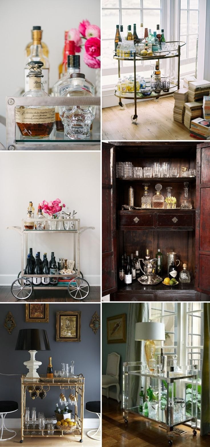 An Idea Packed Inspiration Post Showing You How To Make A Glamorous And Chic Bar Cart For Your Home Wedding