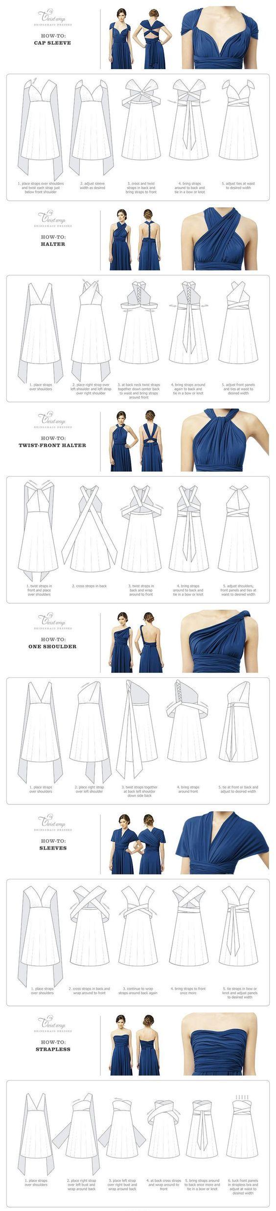 Twist Wrap Dress - How-To-Wear Instructions