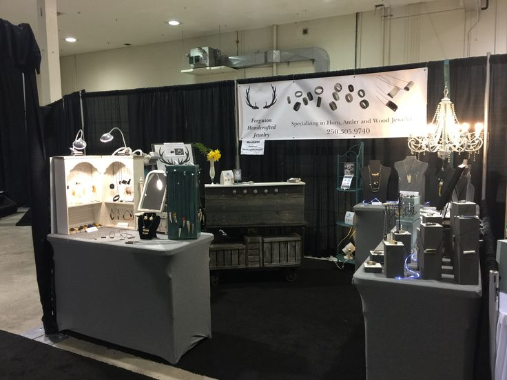 Day two at Craft Culture in Kelowna. Rearranged my booth a little to improve traffic flow. Ferguson Handcrafted Jewelry.