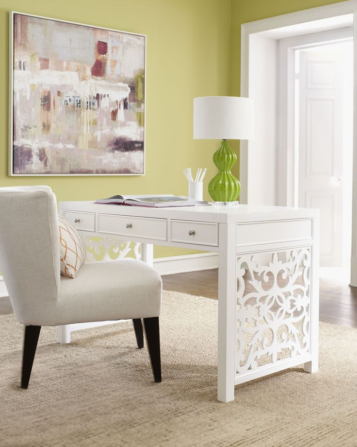 "Beautiful Desk ""White Spur"" Office Furniture"