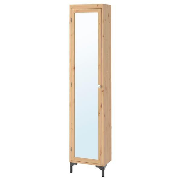 Silveran Armario Alto Con Espejo Marron Claro Ikea Espejos