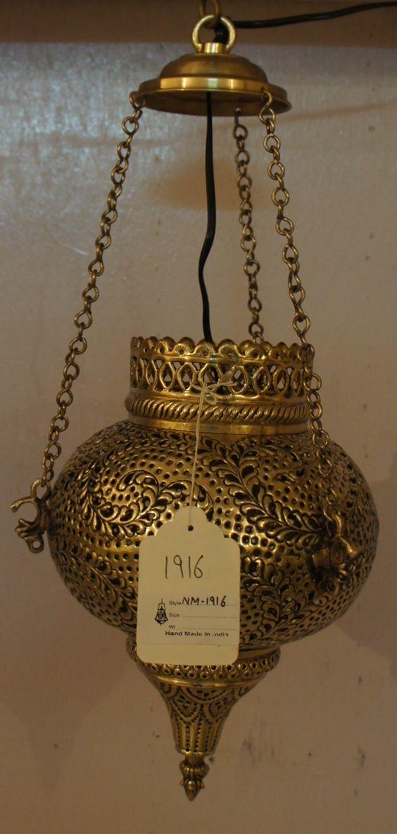 Brass pendant lamps