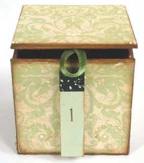 Christmas box made of photocube