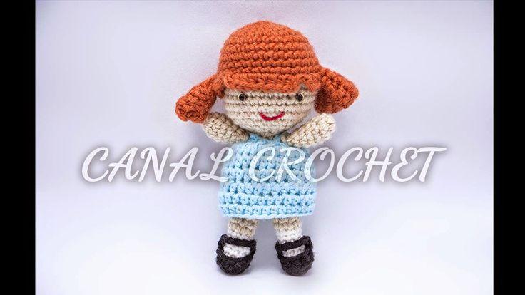 Muñeca de Elly Amigurumi - Pocoyo - Patrón Gratis en Español y con Videotutorial aquí: http://amigurumilacion.blogspot.com.es/2015/01/muneca-amigurumi-patron-libre.html