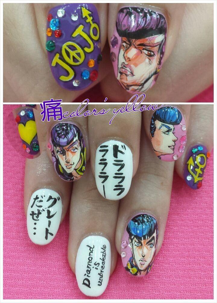 JOJO : Character nail art