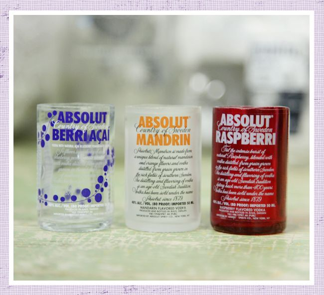 Never thought of using mini-bottles for shot glasses!  Need to do for K!