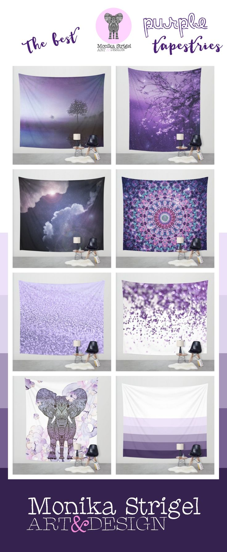 I`m in love with purple & lavender .... find here my designs for tapestries - all in three sizes on Society6 available. Worldwide shipping - no hassle returns! $39  #purple #lavender #tapestrie #glitter #boho #tapestries #landscape #cherry  #blooms #flower #floral #abstract #minimal #walldeco #decoration #homedecor #dekoration #wanddekoration #stoff #vorhang #vorhangstoff #weltweit #wolken #clouds #elephant  #kinderzimmer #mädchenzimmer #teenroom #girlsroom #college #photo #monikastrigel