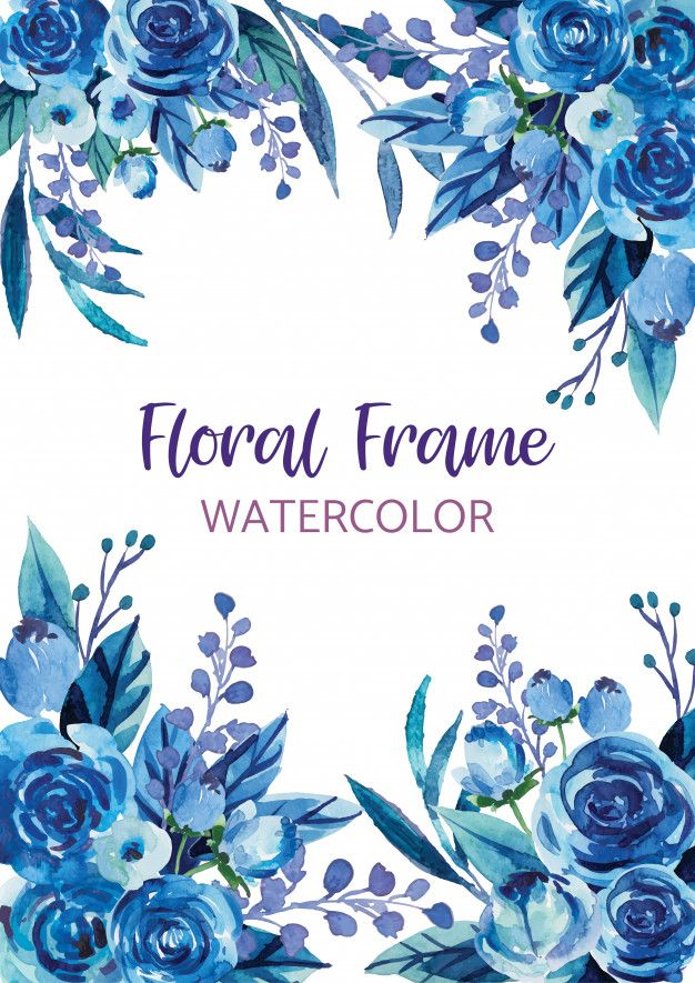 Watercolor Flower Clipart Floral Wreath Corner Garland Clipart