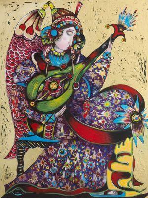 Green Mandolin by Toller Cranston